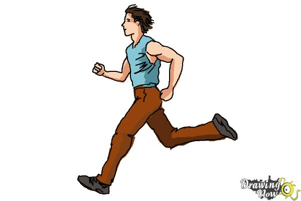 How To Draw A Running Person Drawingnow