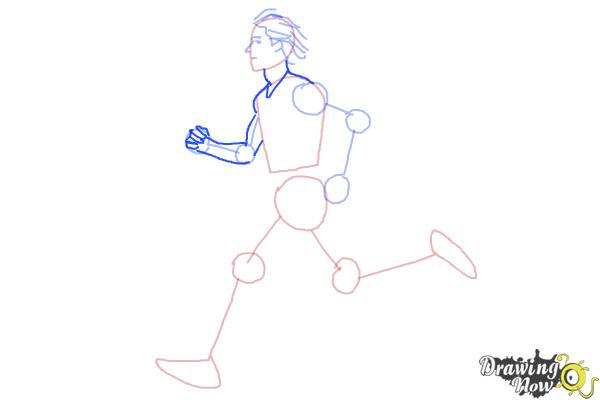 How to Draw a Running Person - Step 5