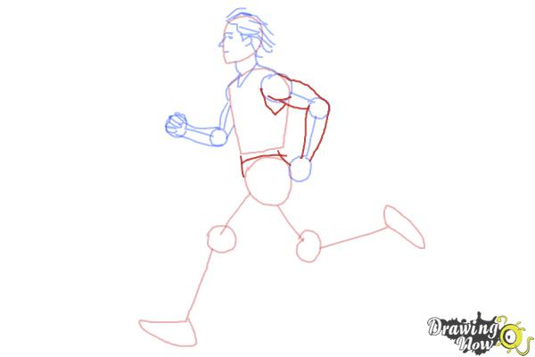 How to Draw a Running Person - Step 6