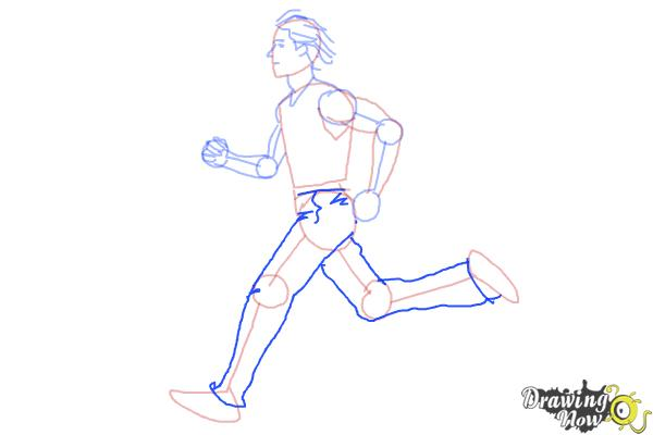 How to Draw a Running Person - Step 7