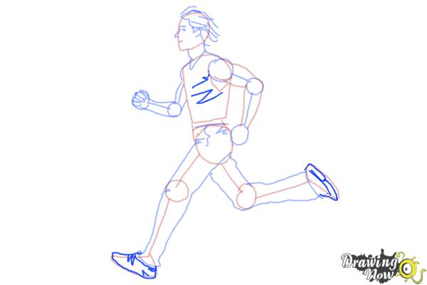 How to Draw a Running Person - Step 8
