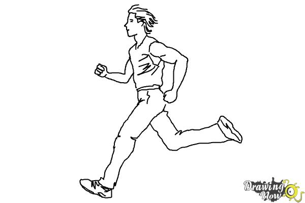 How to Draw a Running Person - Step 9