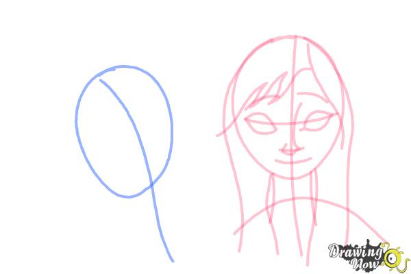 How to Draw Anna And Elsa from Frozen - Step 7