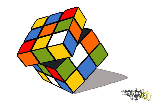 How to Draw a Rubik'S Cube - Step 10