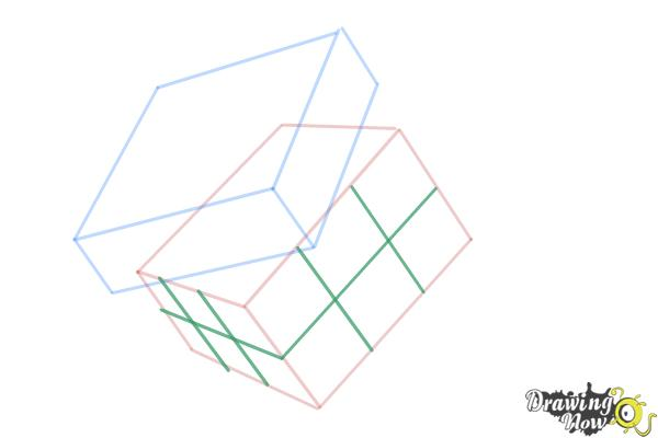 How to Draw a Rubik'S Cube - Step 6