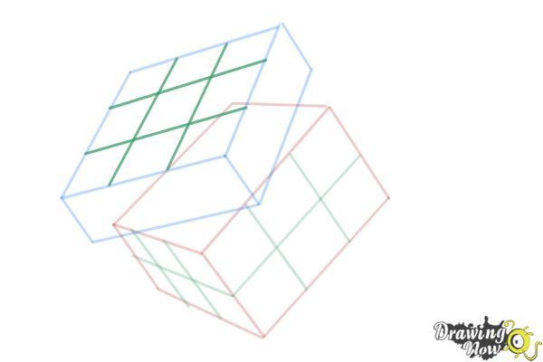 How to Draw a Rubik'S Cube - Step 7
