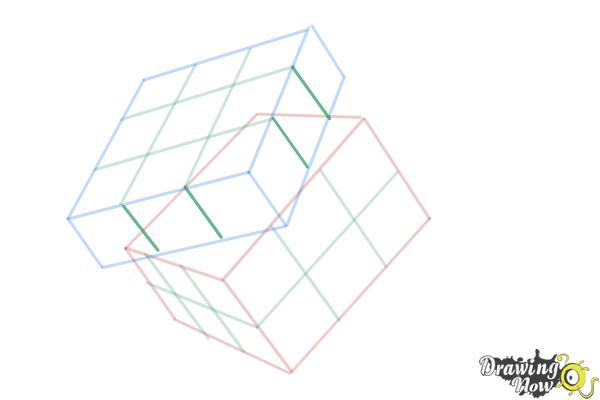 How to Draw a Rubik'S Cube - Step 8