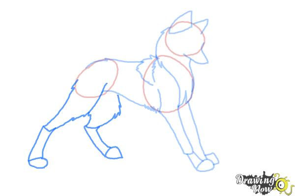How to draw anime wolves step 6