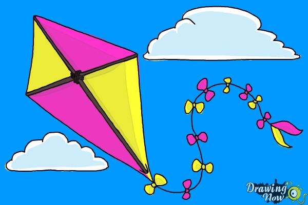 How to draw a kite drawingnow - How to make a kite ...