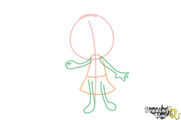 How to Draw a Little Girl Step by Step - Step 2