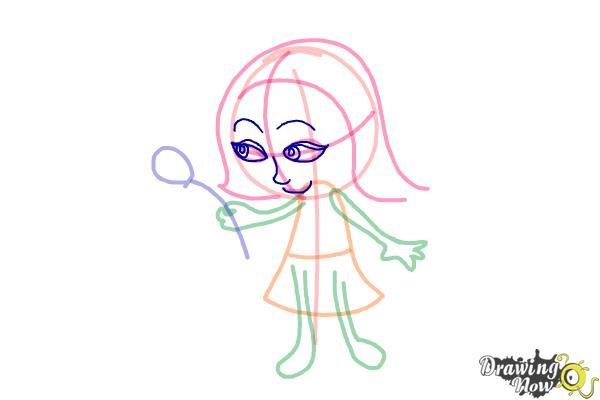 How to Draw a Little Girl Step by Step - Step 4