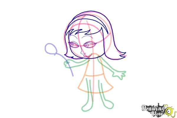 How to Draw a Little Girl Step by Step - Step 5