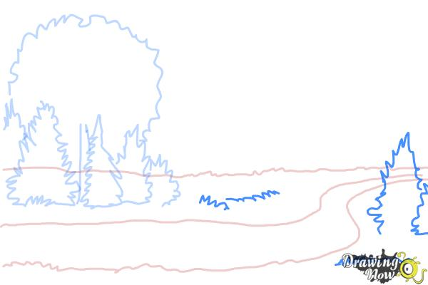 How to Draw a River - Step 5