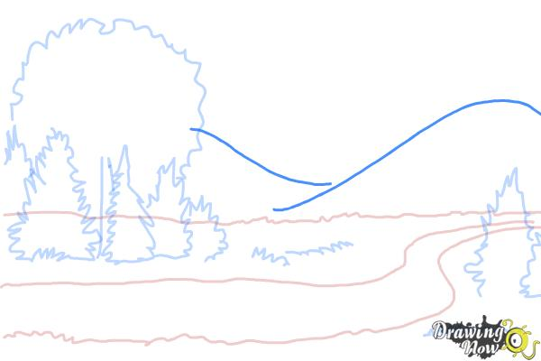 How to Draw a River - Step 6