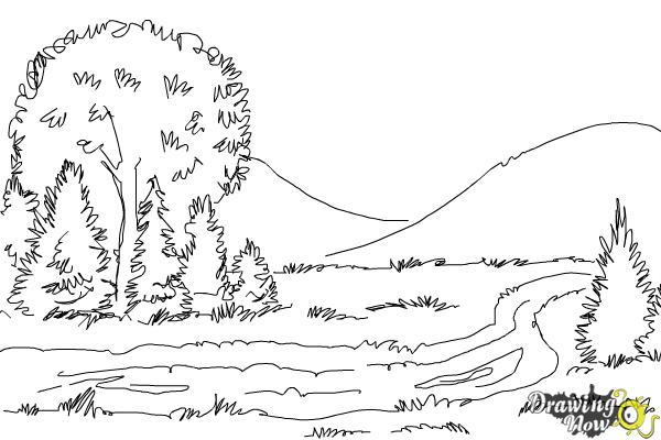 How to Draw a River - Step 7
