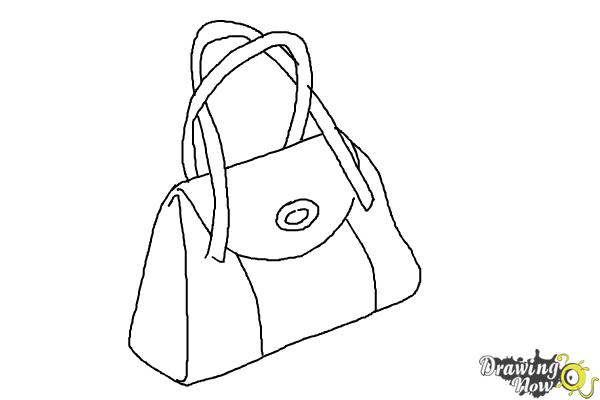How To Draw A Purse Step 7