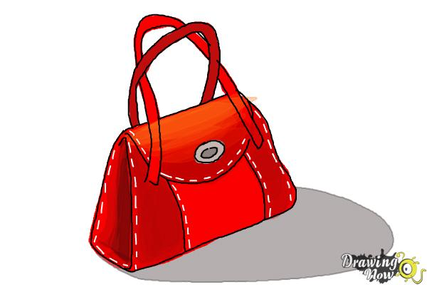 How To Draw A Purse Step 8