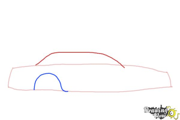 How to Draw a Police Car - Step 2