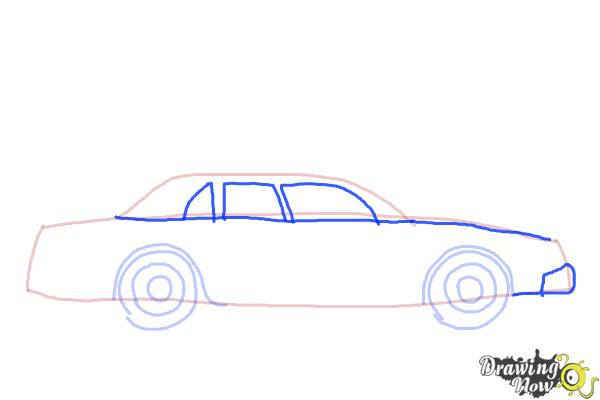 How to Draw a Police Car - Step 5