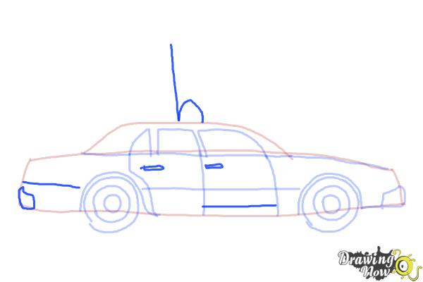 How to Draw a Police Car - Step 7