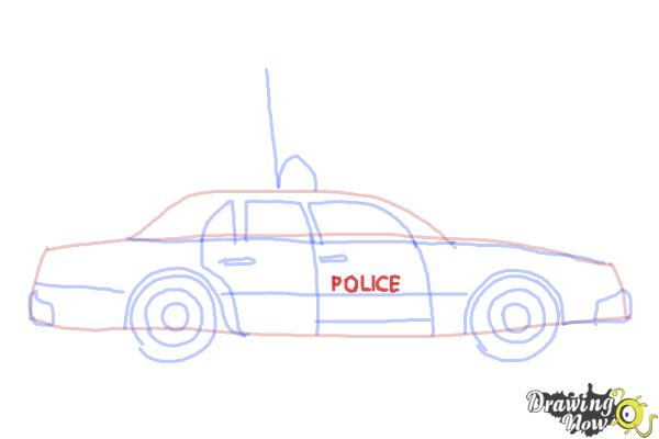 How to Draw a Police Car - Step 8