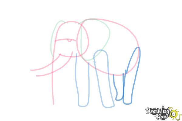 How to Draw Elephants - Step 7