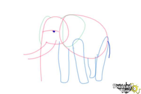 How to Draw Elephants - Step 8
