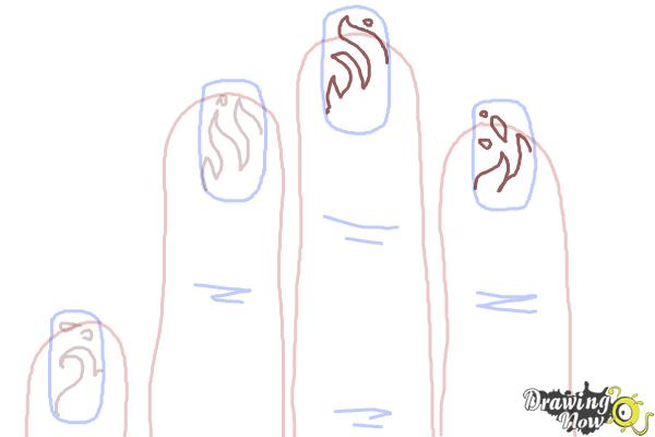 How to Draw Nail Art - Step 8