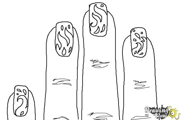 How to Draw Nail Art - Step 9