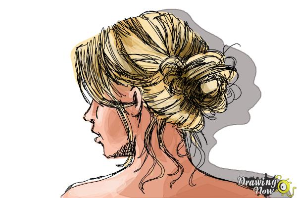 How To Draw A Messy Bun Drawingnow