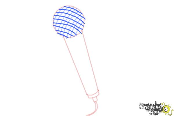 How to Draw a Microphone - Step 5