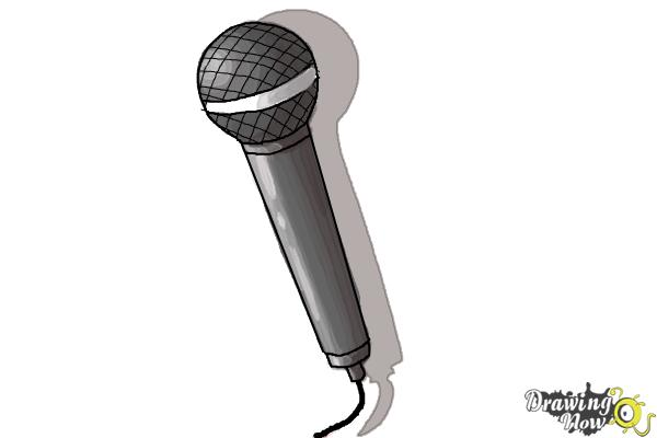 How to Draw a Microphone - Step 8