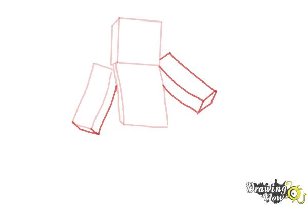 How to Draw Minecraft Characters - Step 4