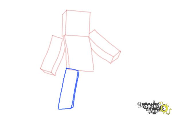 How to Draw Minecraft Characters - Step 5
