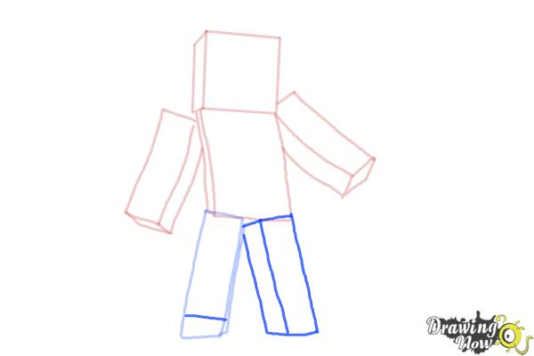How to Draw Minecraft Characters - Step 6