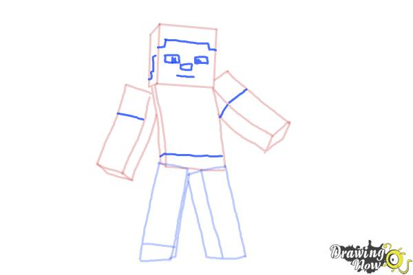 How to Draw Minecraft Characters - Step 7