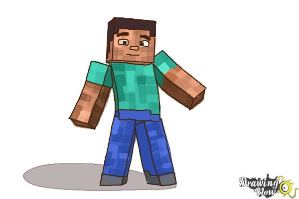 How to Draw Minecraft Characters - Step 9