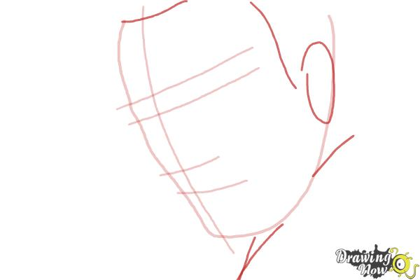 How to Draw Liam Neeson - Step 3
