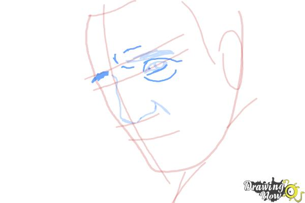 How to Draw Liam Neeson - Step 5