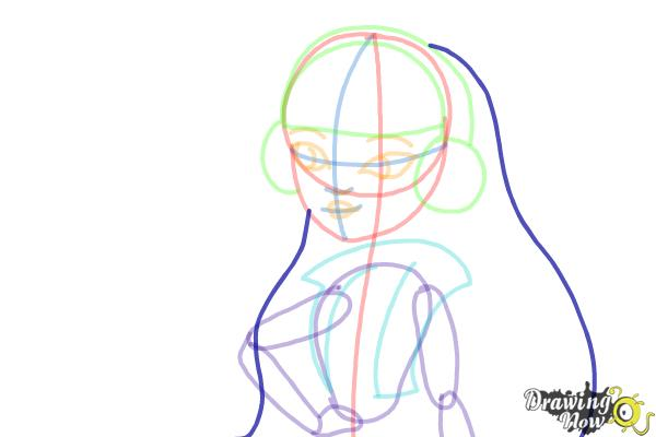 How to Draw Melody Piper The Daughter Of The Pied Piper - Step 10
