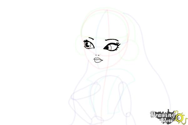 How to Draw Melody Piper The Daughter Of The Pied Piper - Step 11