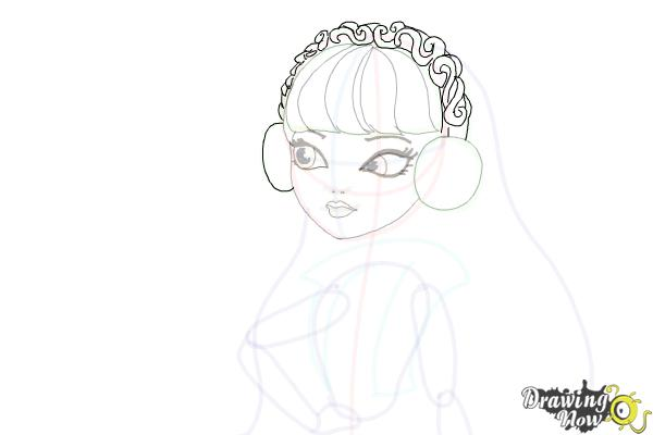How to Draw Melody Piper The Daughter Of The Pied Piper - Step 13