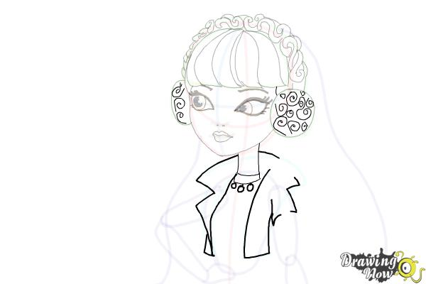 How to Draw Melody Piper The Daughter Of The Pied Piper - Step 14