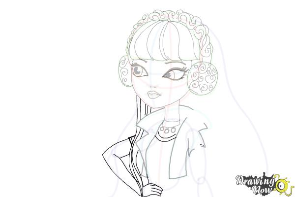 How to Draw Melody Piper The Daughter Of The Pied Piper - Step 15