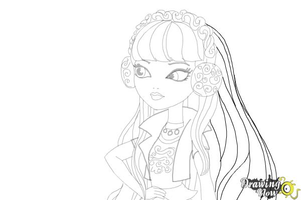 How to Draw Melody Piper The Daughter Of The Pied Piper - Step 17