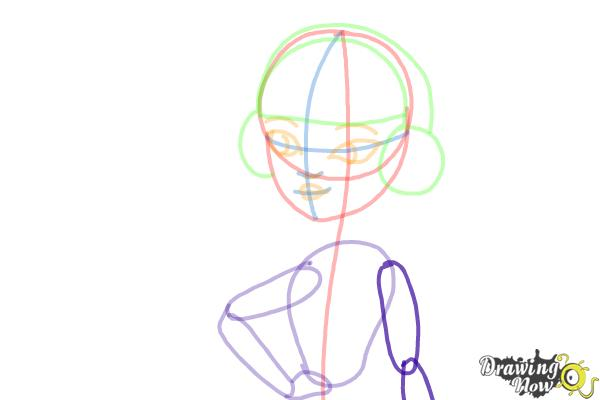 How to Draw Melody Piper The Daughter Of The Pied Piper - Step 8