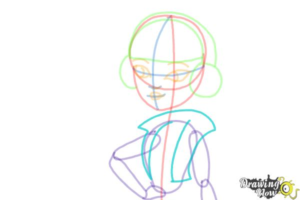 How to Draw Melody Piper The Daughter Of The Pied Piper - Step 9