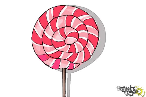 How to Draw a Lollipop , Step 7