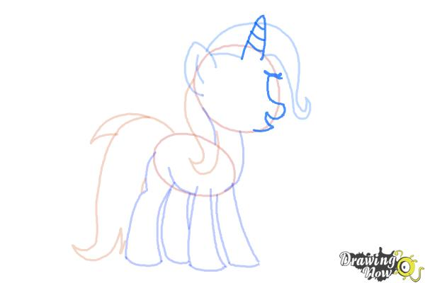 How to Draw Trixie Lulamoon from My Little Pony Friendship Is Magic - Step 6