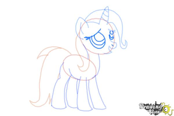 How to Draw Trixie Lulamoon from My Little Pony Friendship Is Magic - Step 7